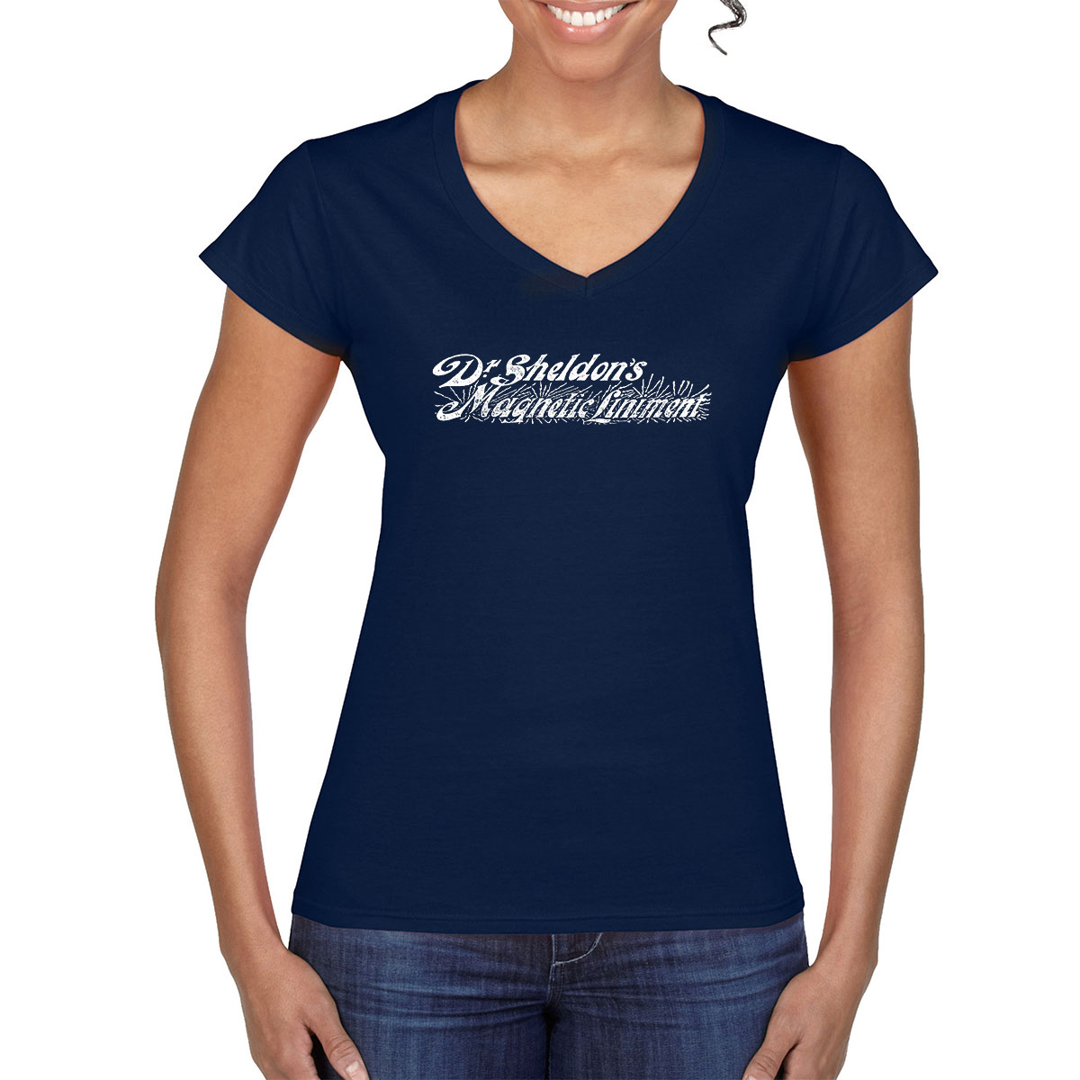 Dr Sheldon's Magnetic Liniment - Vintage Ad - T-Shirt