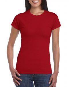 Women's Crew Neck  - Cherry Red