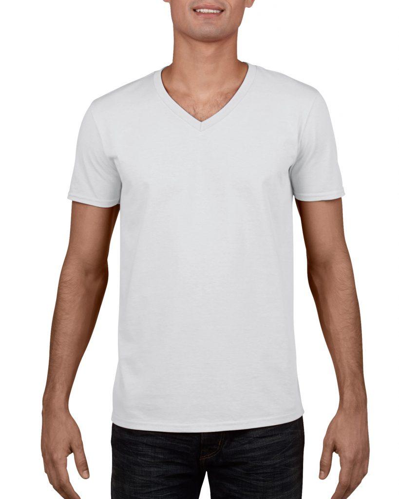 Men's/Unisex V Neck - White