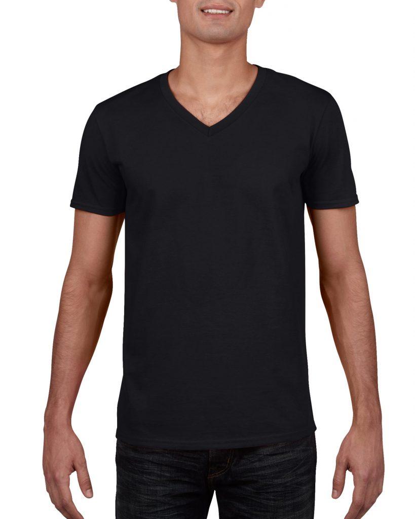 Men's/Unisex V Neck - Black