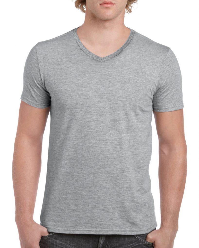 Men's/Unisex V Neck - Sports Grey