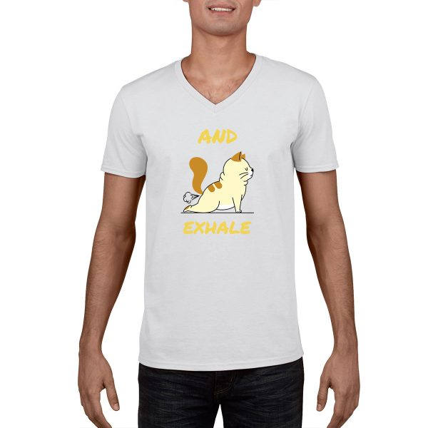 """Cat Yoga """"And Exhale"""" T-Shirt"""