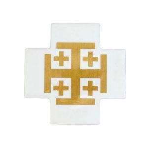 Jerusalem Cross Ceramic - Gold