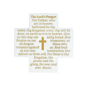 The Lord's Prayer - English - Gold