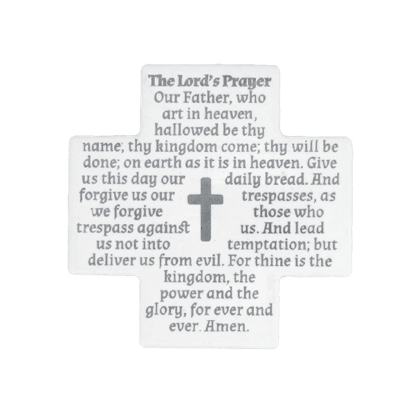 The Lord's Prayer - English - Silver