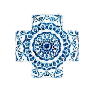 Mandala Ceramic Cross