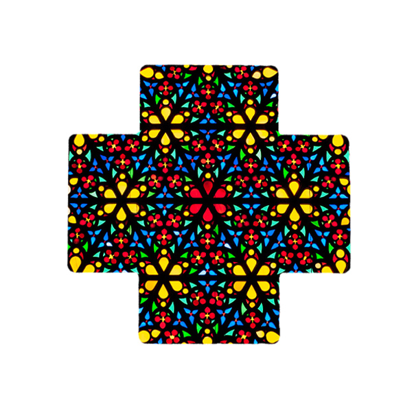 Stained Glass Ceramic Cross
