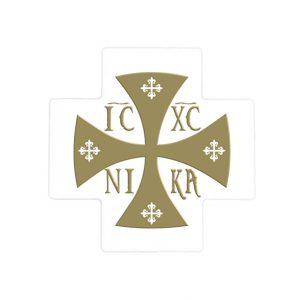 IC XC NIKA Ceramic Cross - Gold