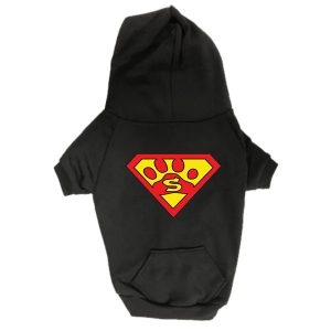 Dog Hoodie - Superdog - Black