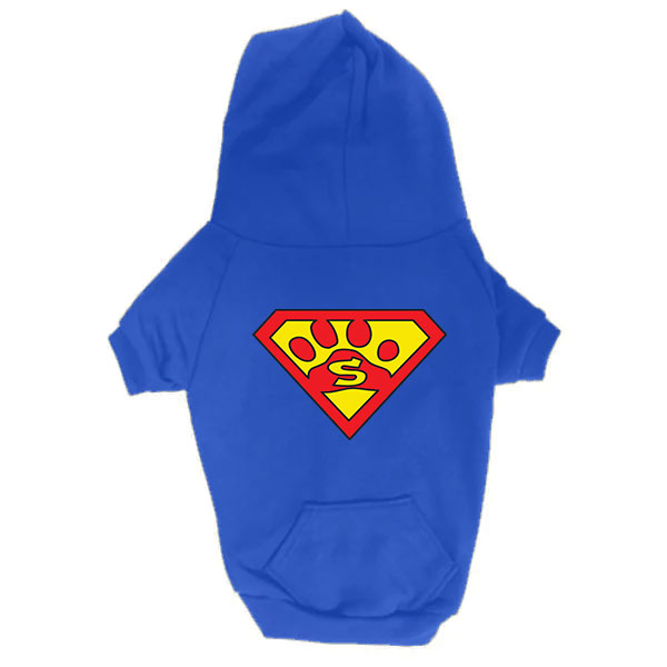 Dog Hoodie - Superdog - Blue