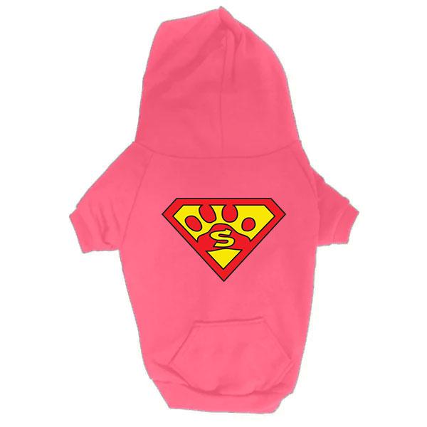 Dog Hoodie - Superdog - Pink