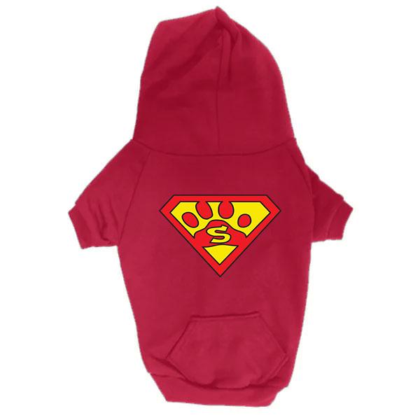 Dog Hoodie - Superdog - Red