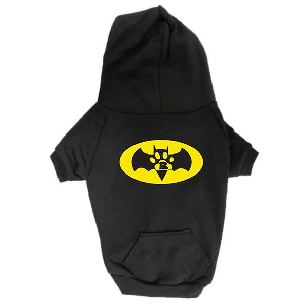 Dog Hoodie - Batdog - Black