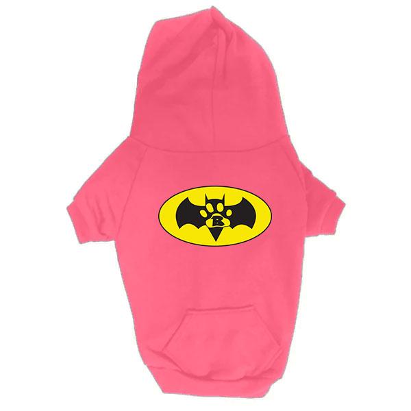 Dog Hoodie - Batdog - Pink