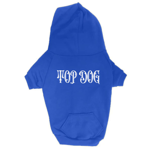 Dog Hoodie - Top Dog - Blue