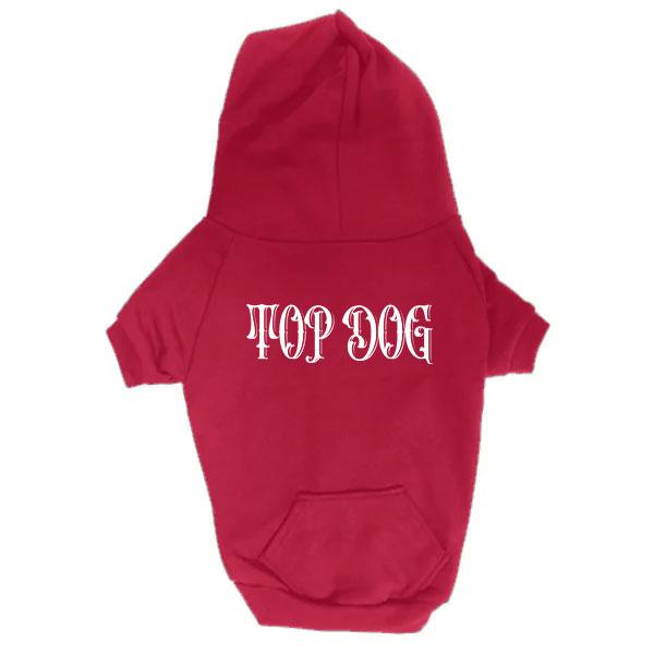 Dog Hoodie - Top Dog - Red