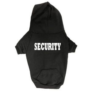 Dog Hoodie - Security - Black