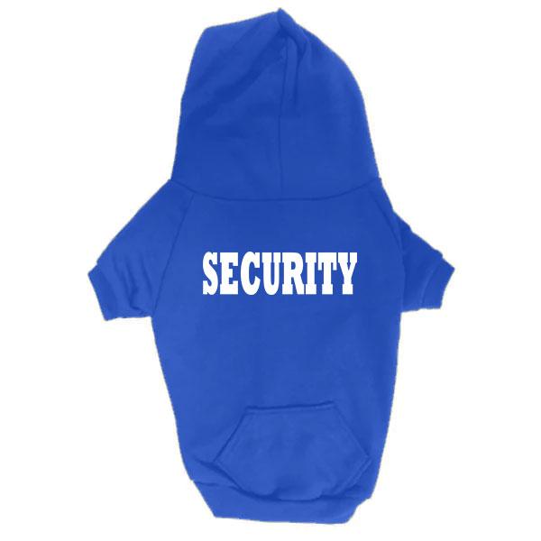 Dog Hoodie - Security - Blue