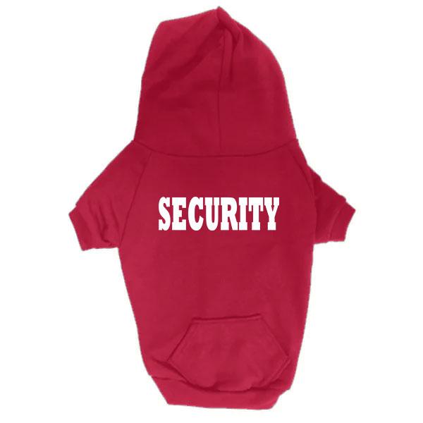Dog Hoodie - Security - Red