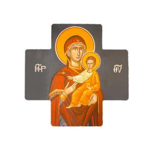 Virgin Mary (Panagia) Ceramic Cross