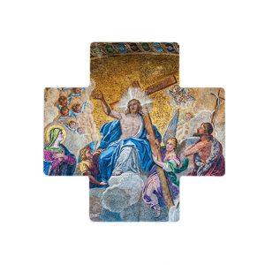 Jesus Christ holding a cross