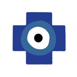 Evil Eye (Mati) Ceramic Cross